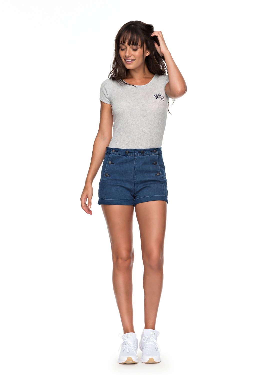 Nautical Anchor - Short Vaquero de Cintura Alta para Mujer Roxy