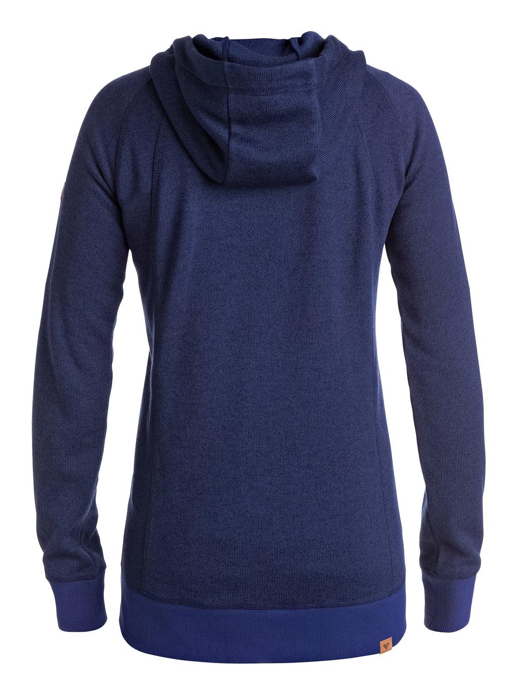 Zip Hoodie Knitting Pattern : Resin Knit Zip Hoodie ERJFT03316 Roxy