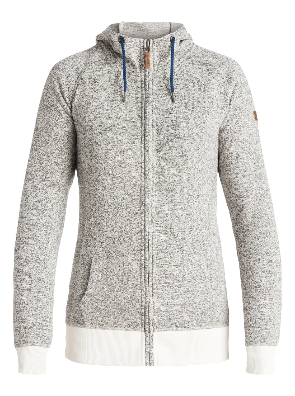 Zip Hoodie Knitting Pattern : Resin Knit - Zip-Up Technical Hoodie 3613371706029 Roxy