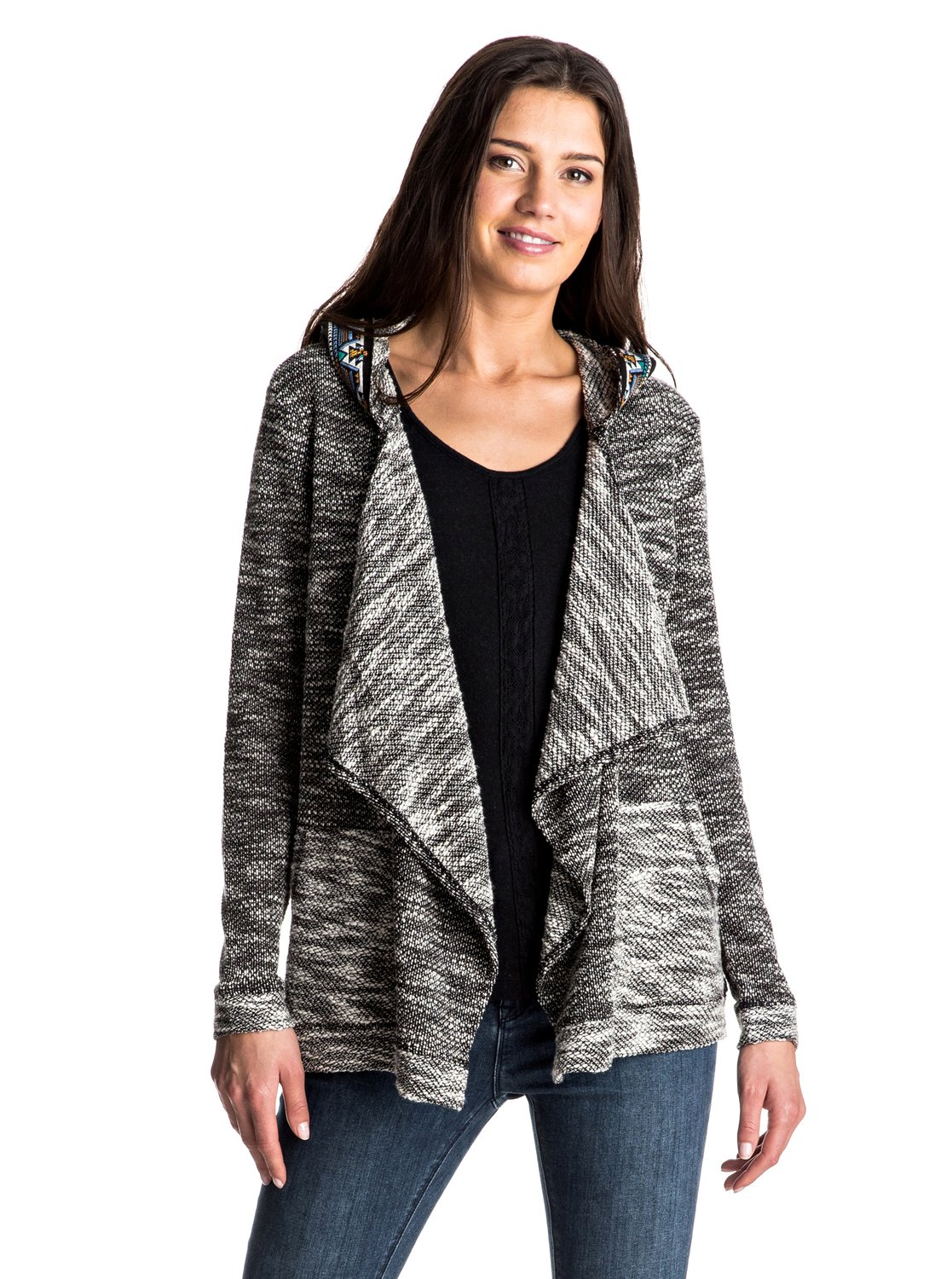 Cross Stepped - Waterfall Hooded Cardigan ERJFT03479 | Roxy