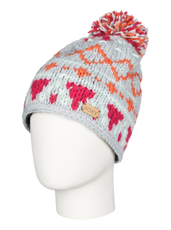 DjuniЖенская шапка-beanie Djuni из сноубордической коллекции Roxy. ХАРАКТЕРИСТИКИ: подкладка из флиса Polar. СОСТАВ: 100% акрил.<br>