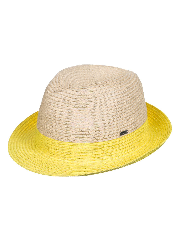 Monoi Straw TrilbyЖенская соломенная шляпа Monoi от ROXY.ХАРАКТЕРИСТИКИ: разноцветный дизайн в стиле color block, соломенное изделие, металлический значок ROXY, размер 56 см ?.СОСТАВ: 100% бумага.<br>