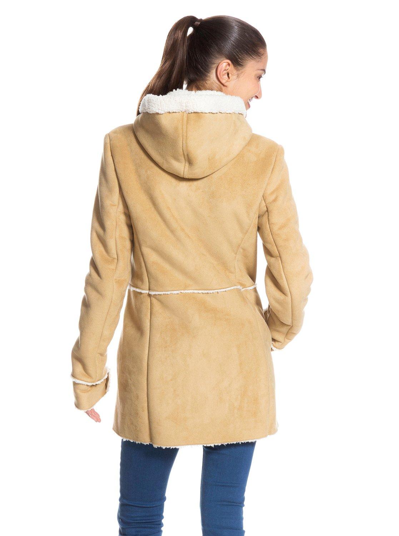 roxy femme veste imitation peau de mouton 100 polyester et imitation daim 019 ebay. Black Bedroom Furniture Sets. Home Design Ideas