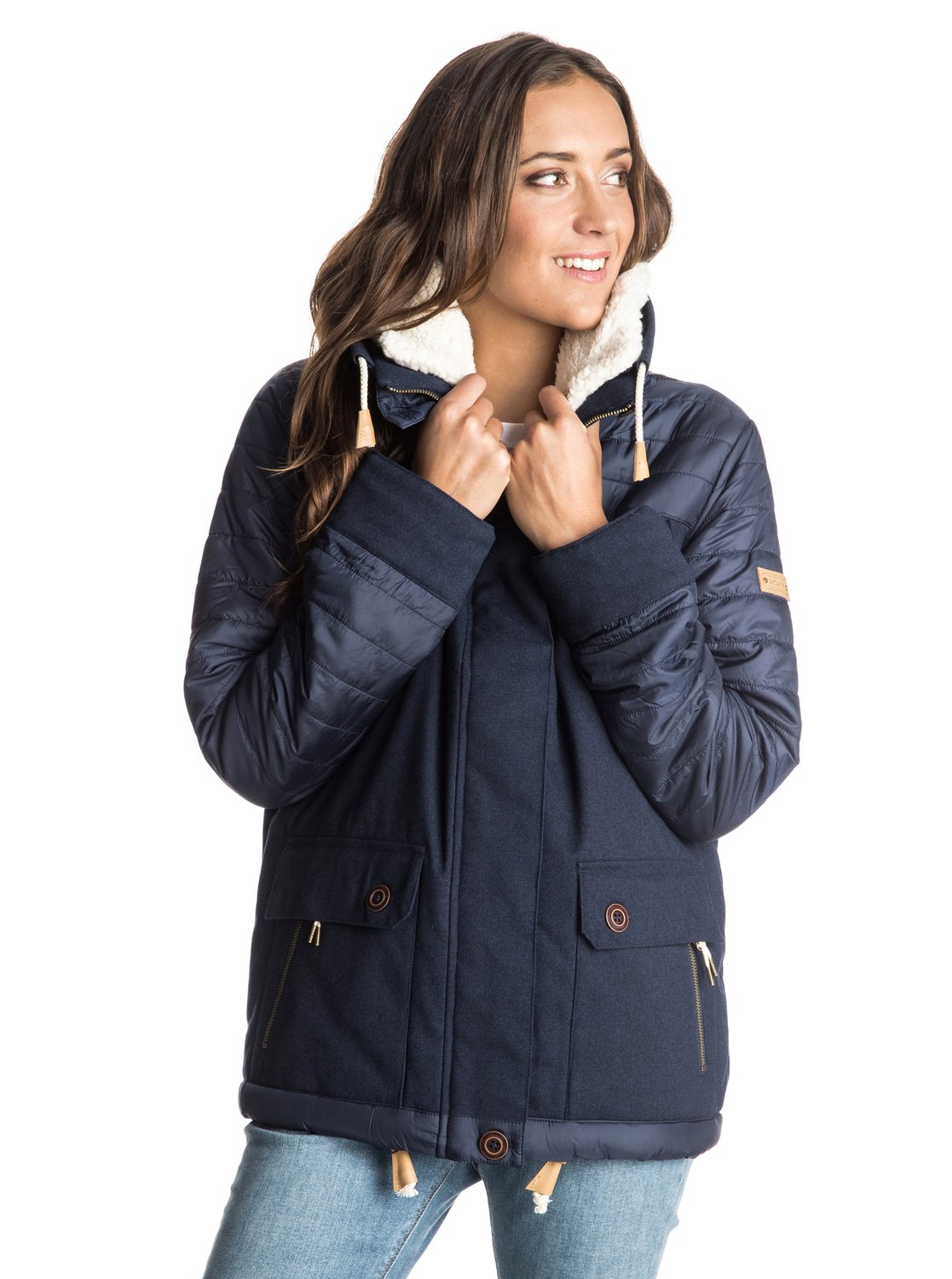 Jasmin - JacketJasmin - Cold Weather Jacket for Women. Off the mountain and straight into the city. ROXY Cold Weather jackets bring the best of the powder to the streets. Marrying premium technical fabrics and superior warmth with fashion-forward silhouettes. Featuring ROXY Dry Flight technology and 3M Thinsulate® Featherless Insulation to keep you warm and dry. Because we know cold weather doesn't just happen on the slopes.<br>