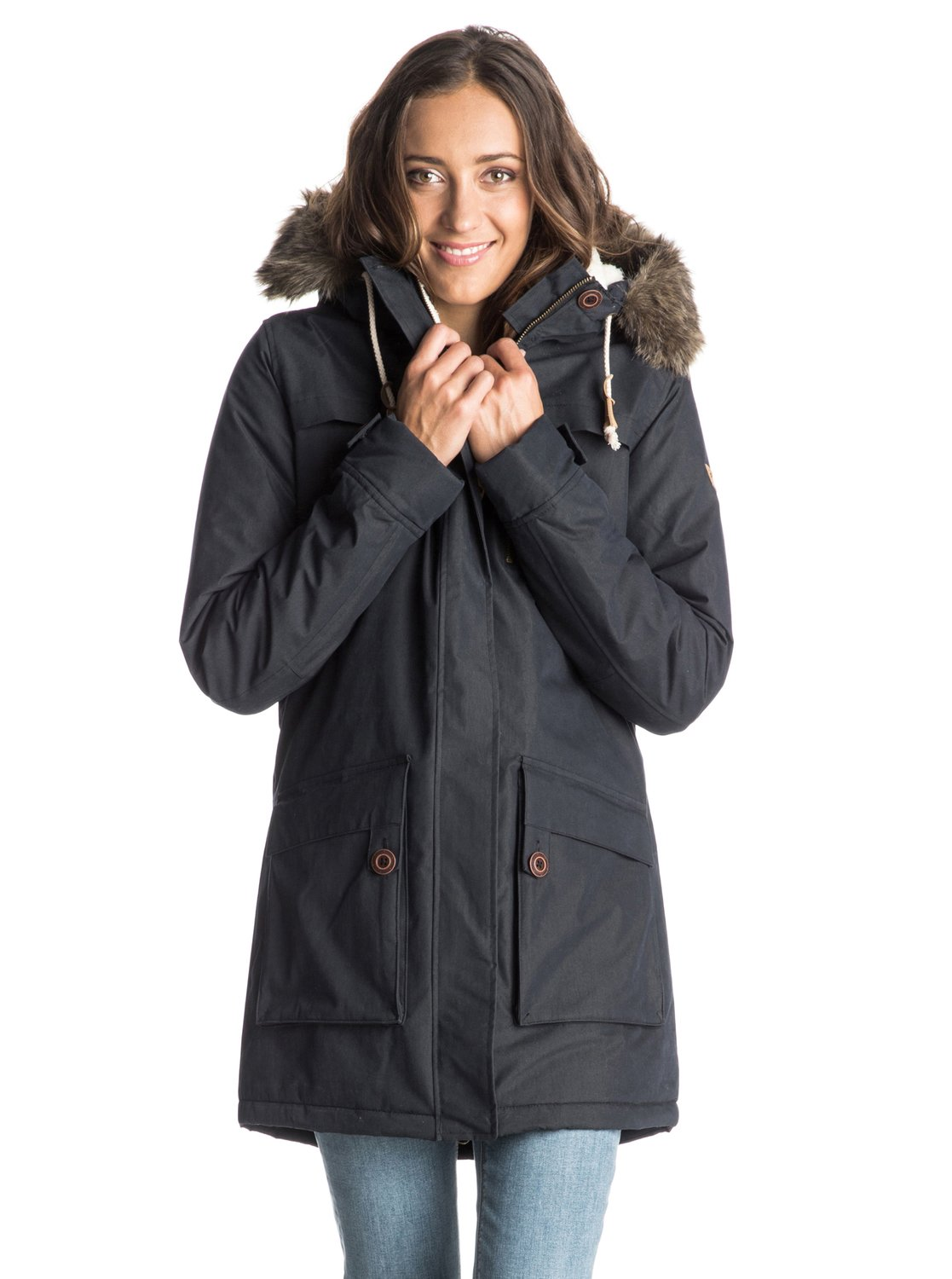 The Eada jacket is both durable and breathable, and comes in classic black, making it easy to clean and great when paired with just about any cold weather accessories. The grown-up hoodie retails.