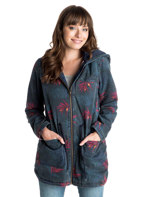 primo printed parka style jacket erjjk03092 roxy. Black Bedroom Furniture Sets. Home Design Ideas