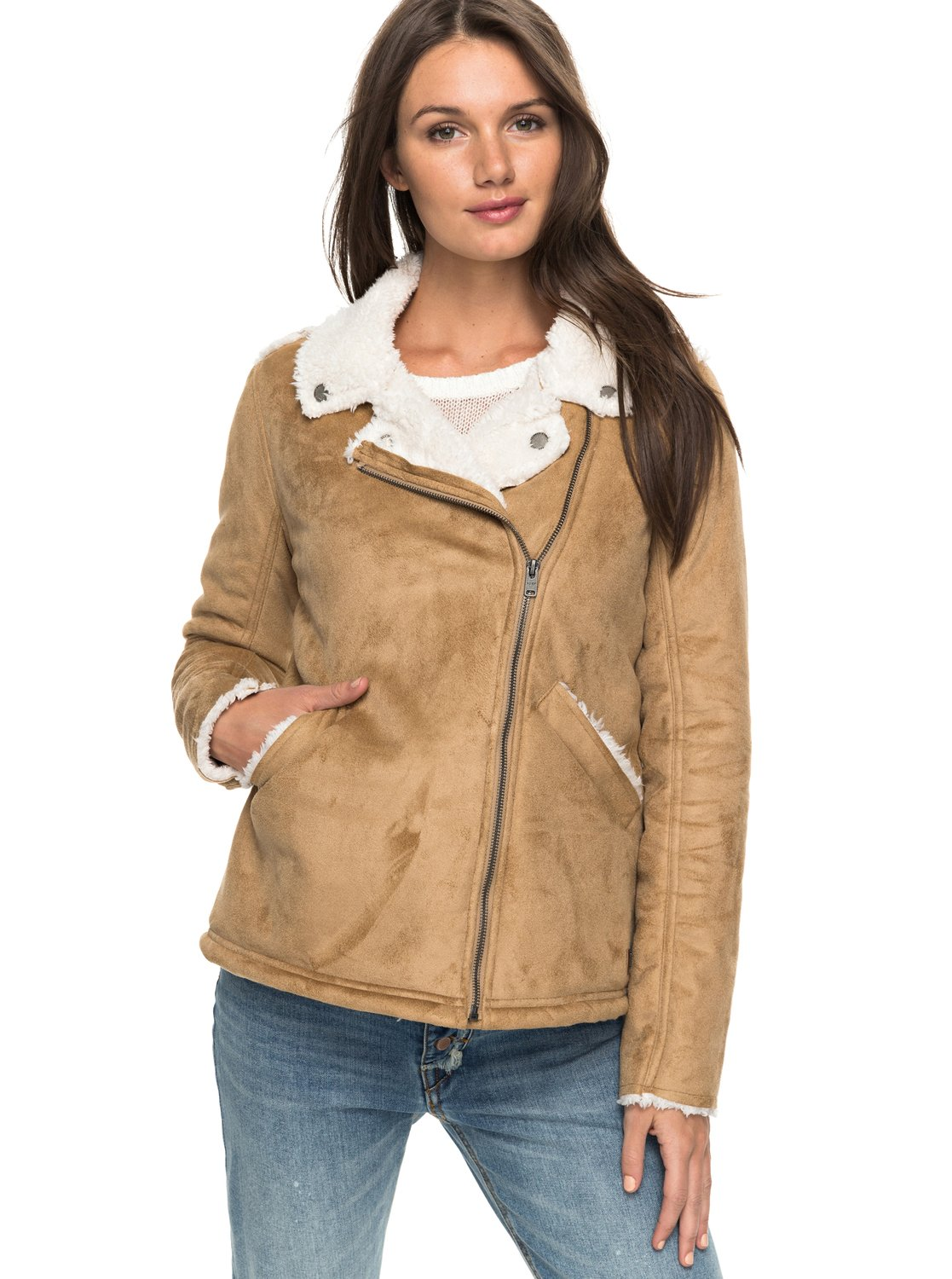 Love Found Shearling Jacket ERJJK03201 | Roxy