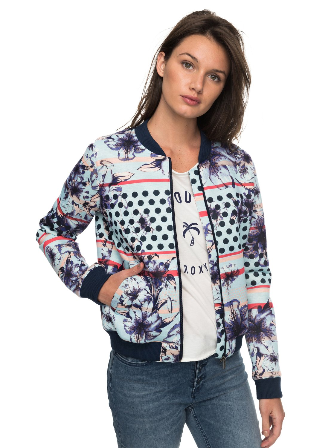 Rock'N Smile - Chaqueta Bomber para Mujer Roxy