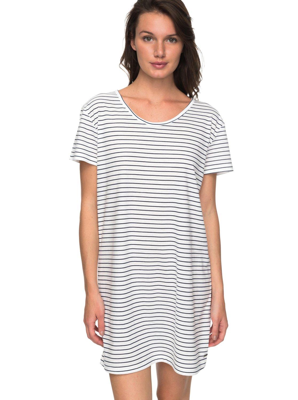 Just Simple Stripe - Vestido Camiseta para Mujer Roxy