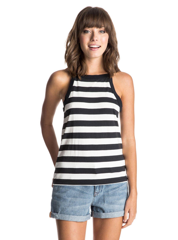 Womens Volcano Tank DressЖенское платье-майка Volcano от ROXY.ХАРАКТЕРИСТИКИ: высокий воротник, широкие лямки, вырез-капля на спине.СОСТАВ: 60% хлопок, 40% вискоза.<br>
