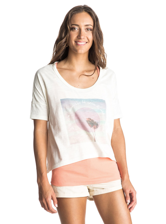Womens Parsons Landing T-Shirt������� �������� Parsons Landing �� ROXY. <br>��������������: 2-�-1, ������������ ����, ����������� �����, ��������� ���������. <br>������: 60% ������, 40% ���������.<br>