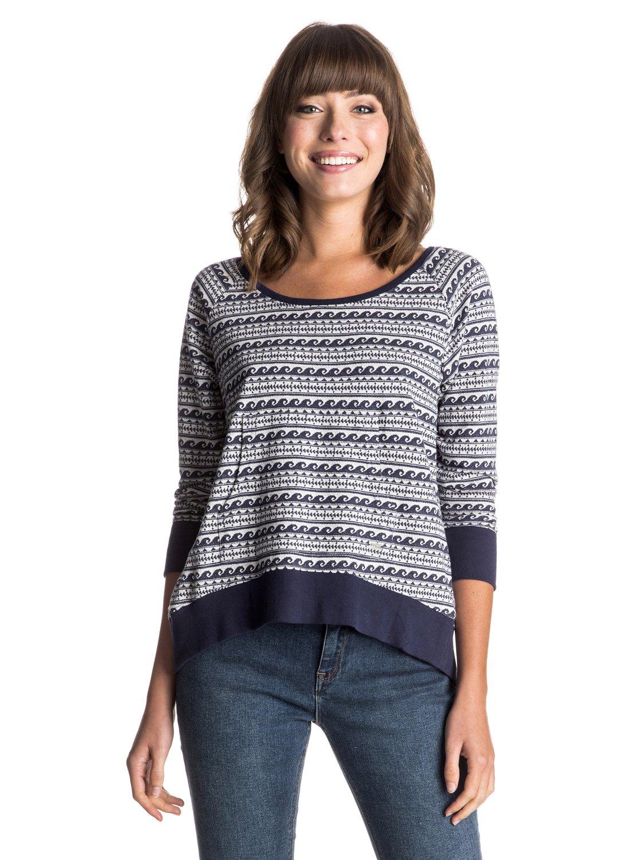 Jamaica Farewell SweaterЖенский свитер Jamaica Farewell от ROXY.ХАРАКТЕРИСТИКИ: разноцветная вязка в рубчик, открытая спина, передний карман, стопроцентный натуральный хлопок.СОСТАВ: 100% хлопок.<br>