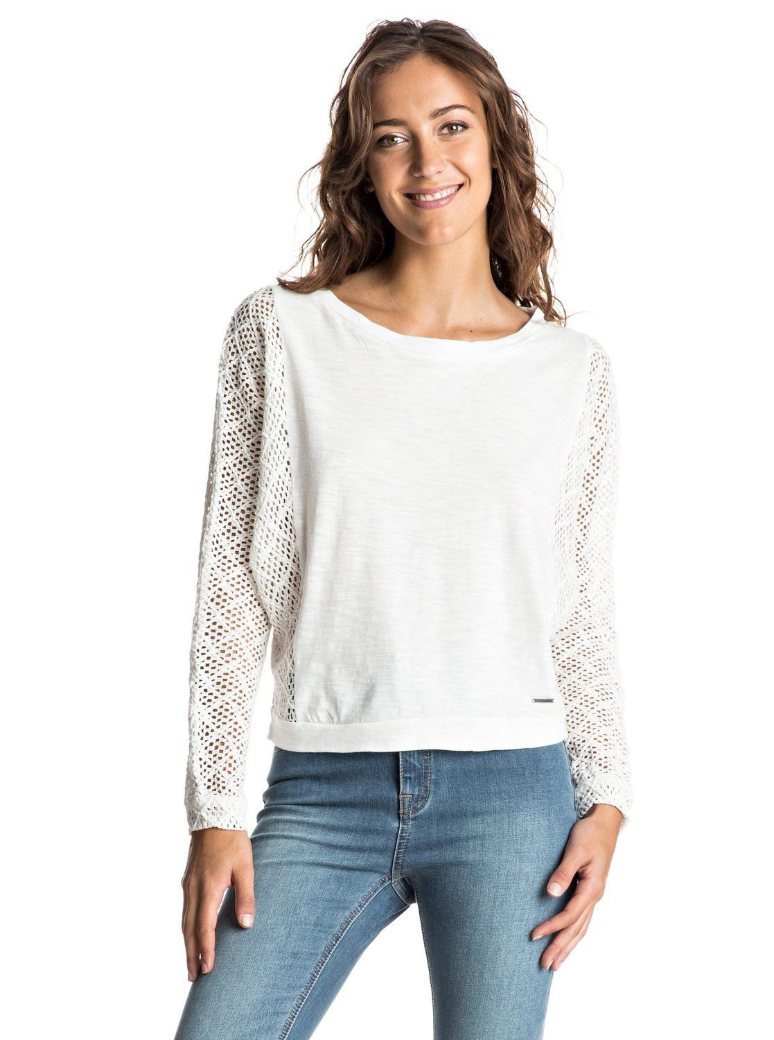Talk To Me Lace - Cropped Long Sleeve Top