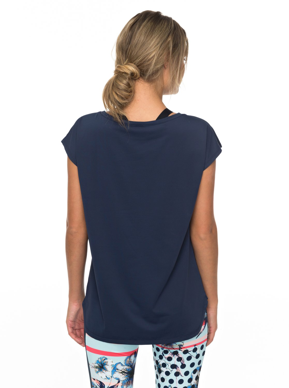 parisian walkway funktionelles t shirt mit fl gel rmeln 3613373347893 roxy. Black Bedroom Furniture Sets. Home Design Ideas