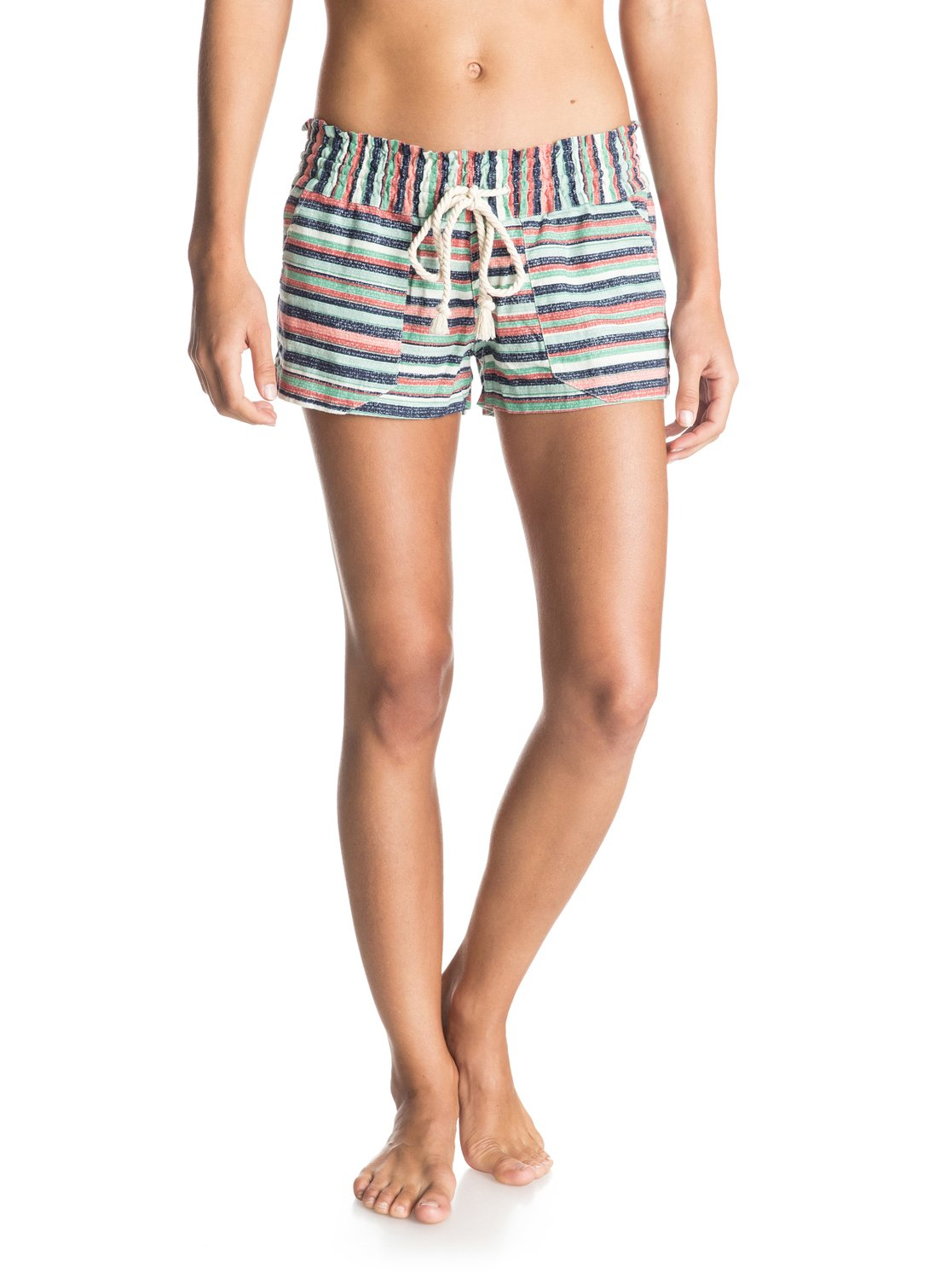 f66f571ea3a 0 Oceanside Printed - Beach Shorts Blue ERJNS03010 Roxy
