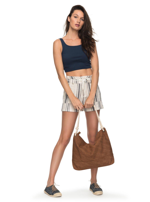 San Salvador Stripy - Short de Lino para Mujer Roxy