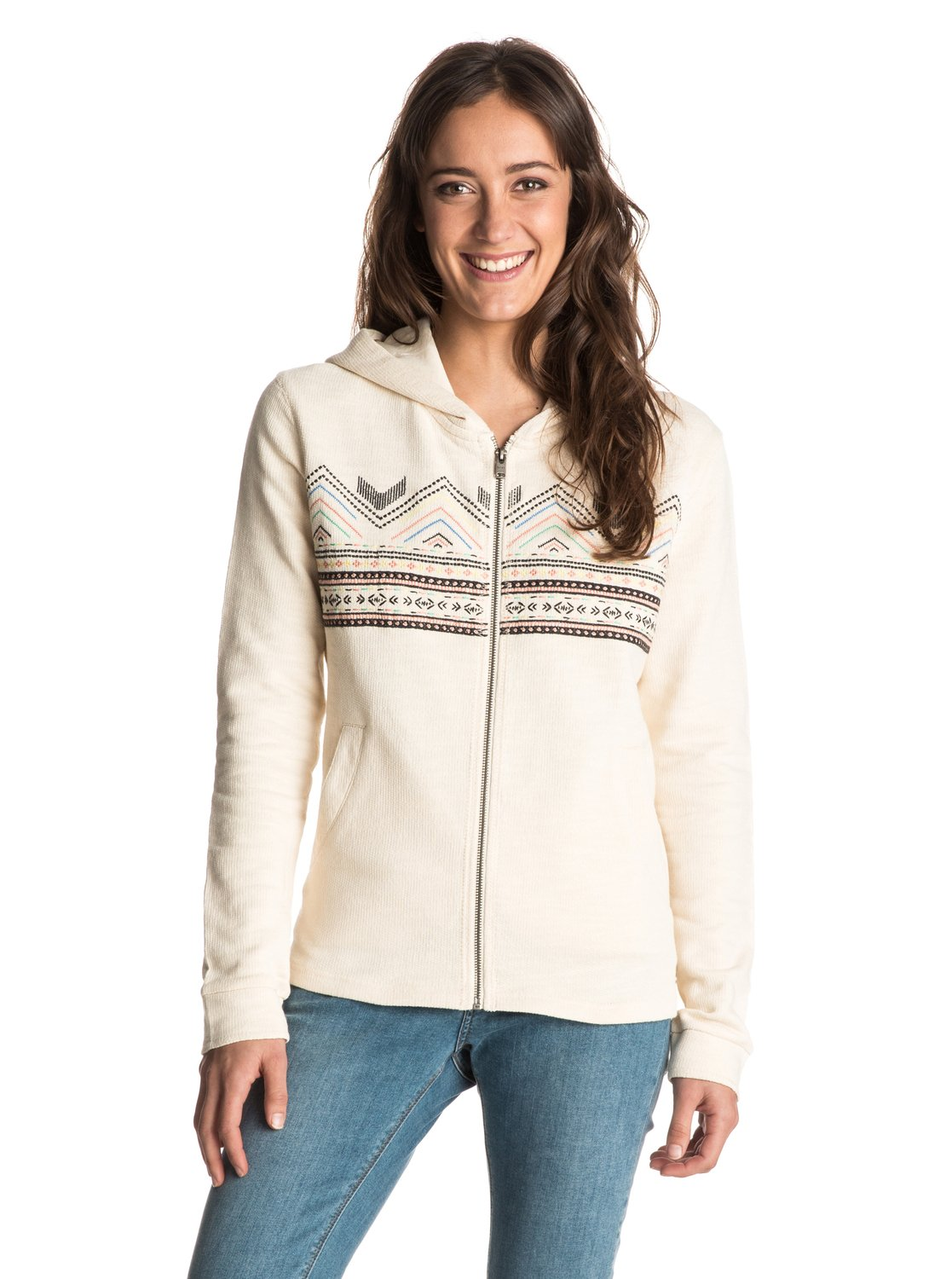 Women's White Canyon Zip Up Hoodie