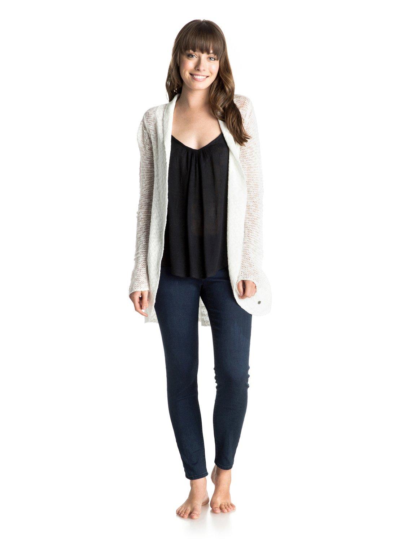 Sea Of LoveЖенский свитер Sea Of Love от ROXY. Характеристики: открытая вязка, широкий воротник в рубчик, длина – 64 см (размер S). СОСТАВ: 93% хлопок, 7% нейлон.<br>