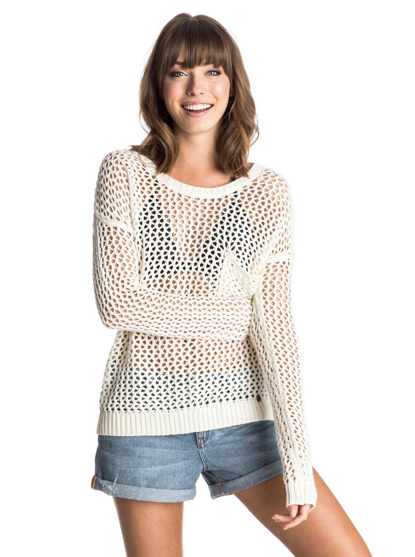 Turnabout SweaterЖенский свитер Turnabout от ROXY. <br>ХАРАКТЕРИСТИКИ: длинные рукава, надевается через голову, заниженная линия плеч, декоративная открытая узорная строчка. <br>СОСТАВ: 60% хлопок, 40% акрил.<br>