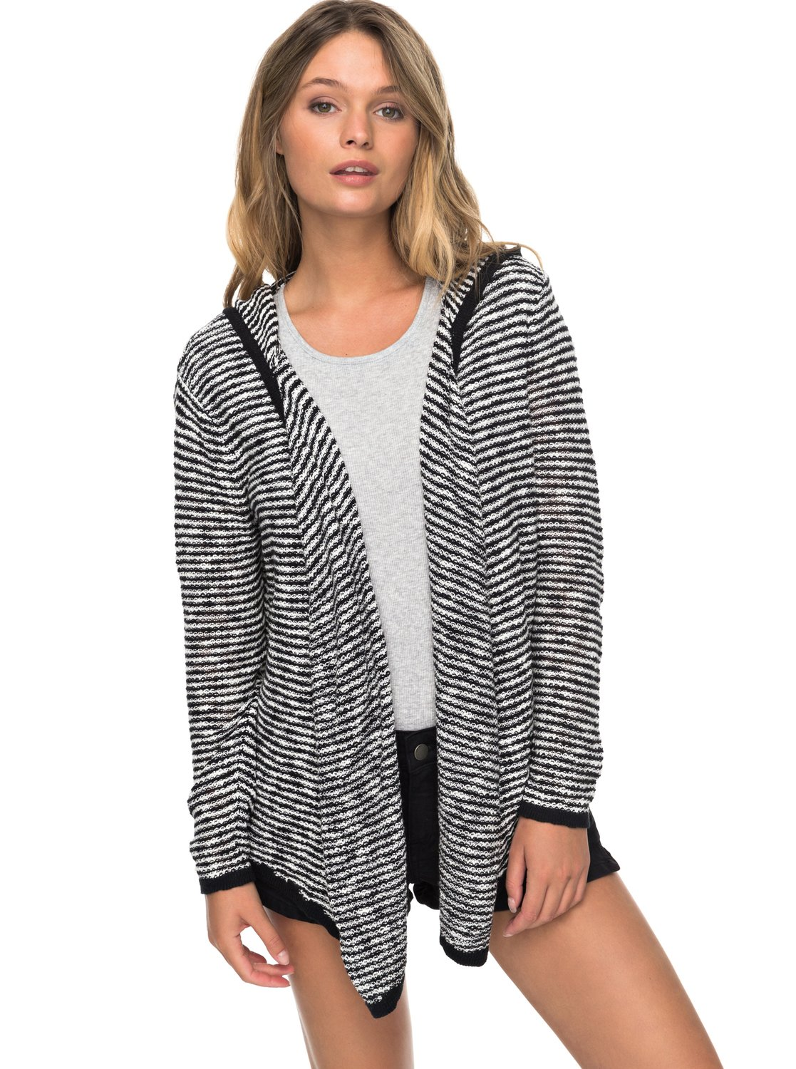 Vermont Escape Stripe Hooded Cardigan ERJSW03256 | Roxy