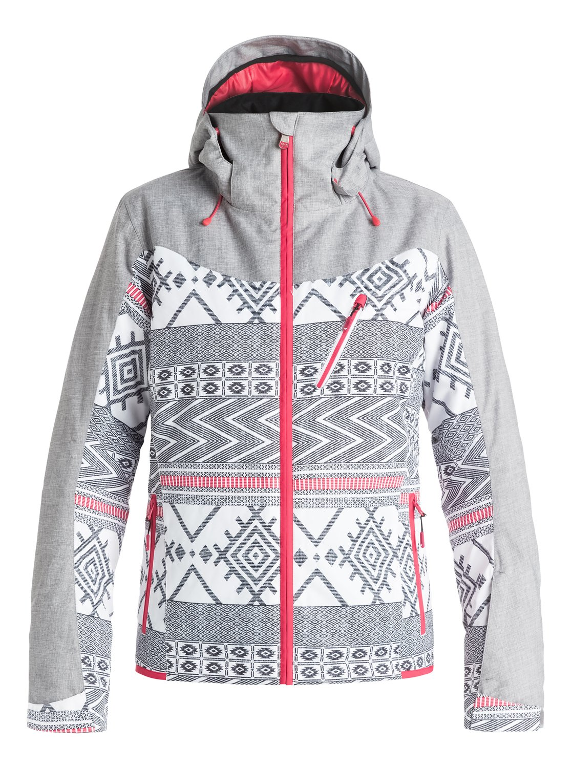 Сноубордическая куртка SassyThe slim-fitting Sassy snow jacket for women features sporty panelling, sleek style lines and top mountain tech. It has been crafted with 10K ROXY DryFlight® technology waterproofing for reliable waterproof and breathable protection in a wide range of winter conditions, Warmflight® level 2 insulation and breathable taffeta lining with soft tricot panels for low-bulk warmth and critically-taped seams for extra protection in the most exposed areas.<br>