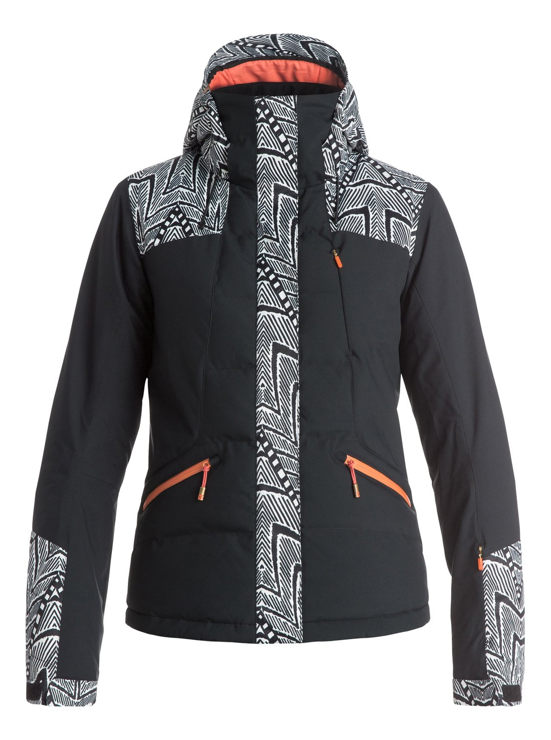 Сноубордическая куртка FlickerThe form-fitting and flattering slim cut Flicker snow jacket for women seamlessly blends style and high performance, crafted with 15K ROXY DryFlight® technology for serious waterproofing in serious conditions. The hooded design mixes PrimaLoft® Gold Insulation Luxe for compressible down-like high loft, high performance insulation in the quilted sections, while PrimaLoft® Black Eco offers non-quilted insulation for a more low-profile warmth where you need manoeuvrability. Fully-taped seams, breathable taffeta lining with soft tricot panels and a host of tech features let you charge the whole mountain to your hearts content. Includes a ROXY X Biotherm® Enjoy &amp;amp; Care moisturising neck warmer that cares for your skin.<br>