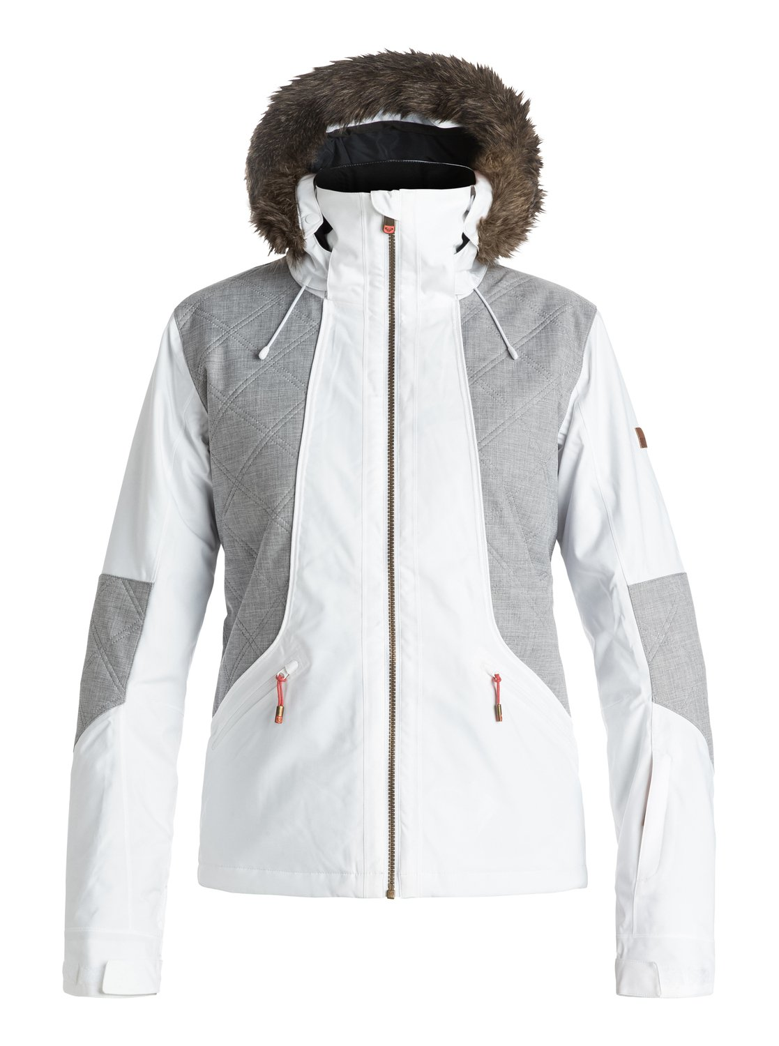 Сноубордическая куртка AtmosphereThe Atmosphere snow jackets 10K ROXY DryFlight® technology waterproofing provides durable waterproof and breathable protection and comfort in wintry conditions. The slim fits sleek lines and modern styling offer form-fitting coverage that's sporty yet streamlined while 3M™ Thinsulate™ Type M ensures powerful bulk-free warmth.<br>