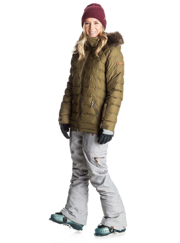 Quinn Quilted Snow Jacket Erjtj03046 Roxy