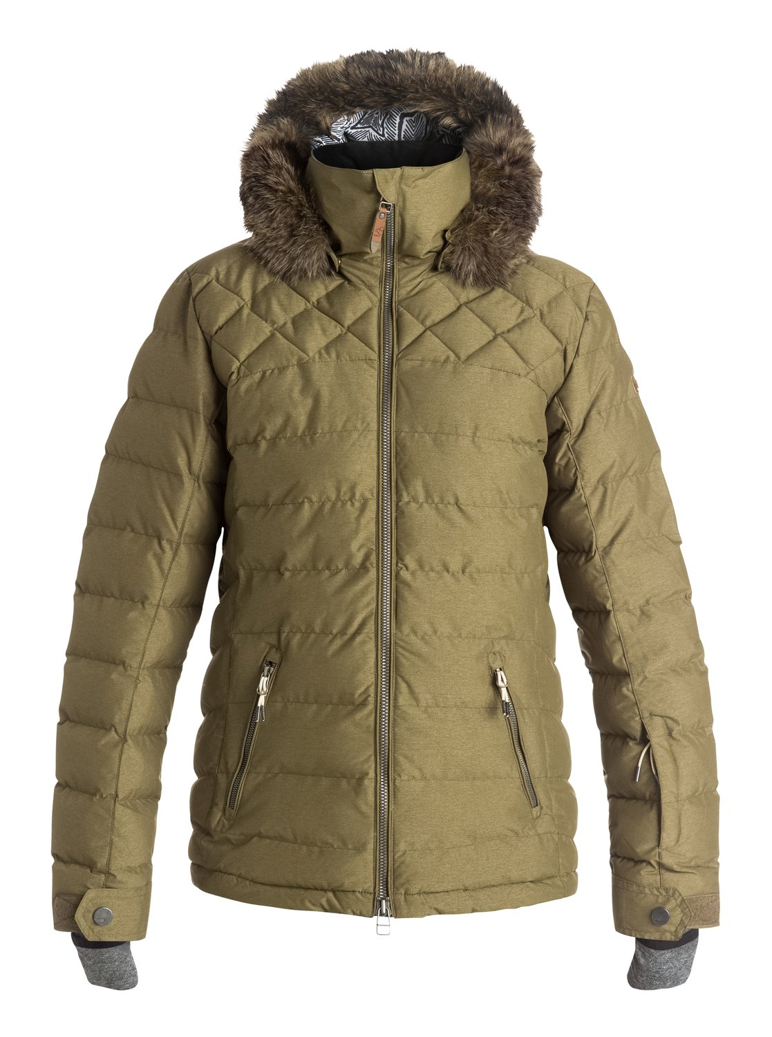 Quinn Quilted Snow Jacket ERJTJ03046 | Roxy