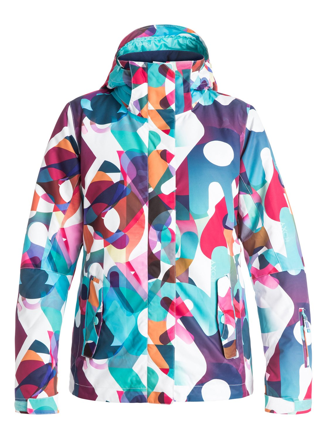 Сноубордическая куртка ROXY JettyStandout on the slopes this winter with the ROXY Jettys bold prints. This snow jacket for womens easy-to-wear style has been crafted with 10K ROXY DryFlight® technology waterproofing for reliable waterproof and breathable protection in a wide range of winter conditions. The regular fit allows space to layer and the Warmflight® level 2 insulation and critically-taped seams will ensure you stay toasty on the inside.<br>
