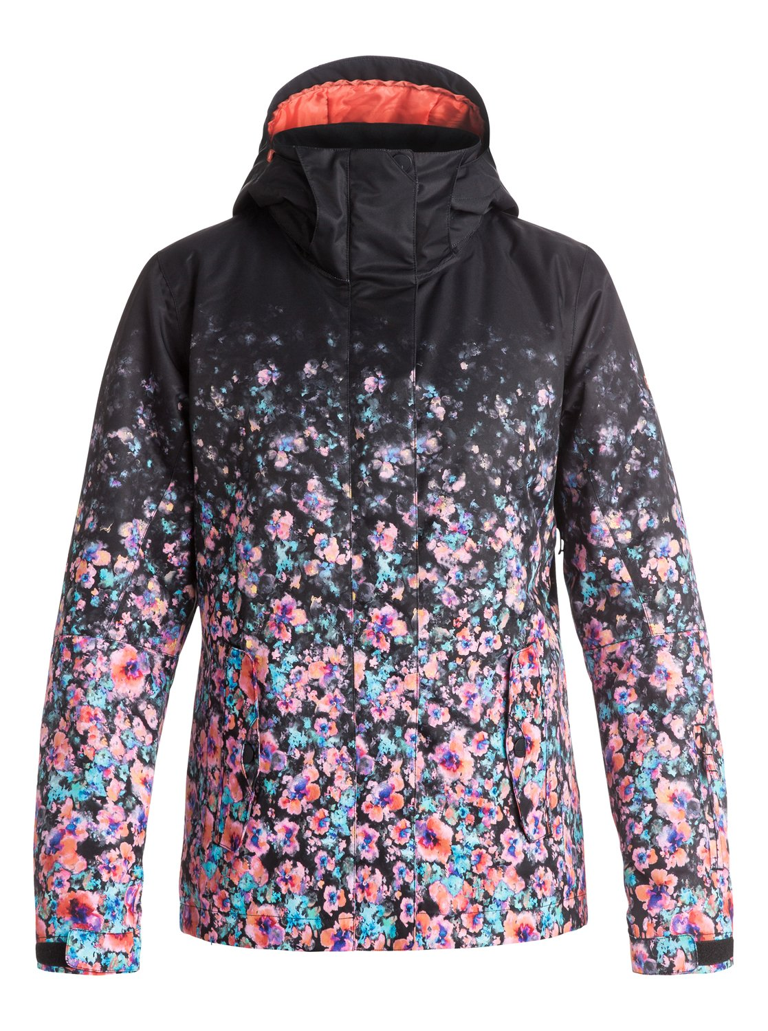 Сноубордическая куртка ROXY Jetty GradientThe Jet Ski Gradient snow jacket for women comes complete with an easy to wear regular fit. The fashionable gradient floral print has been woven with 10K ROXY DryFlight® technology waterproofing for reliable waterproof and breathable protection in a wide range of winter conditions while Warmflight® level 2 insulation provides low-bulk warmth and critically-taped seams offer extra protection in the most exposed areas.<br>