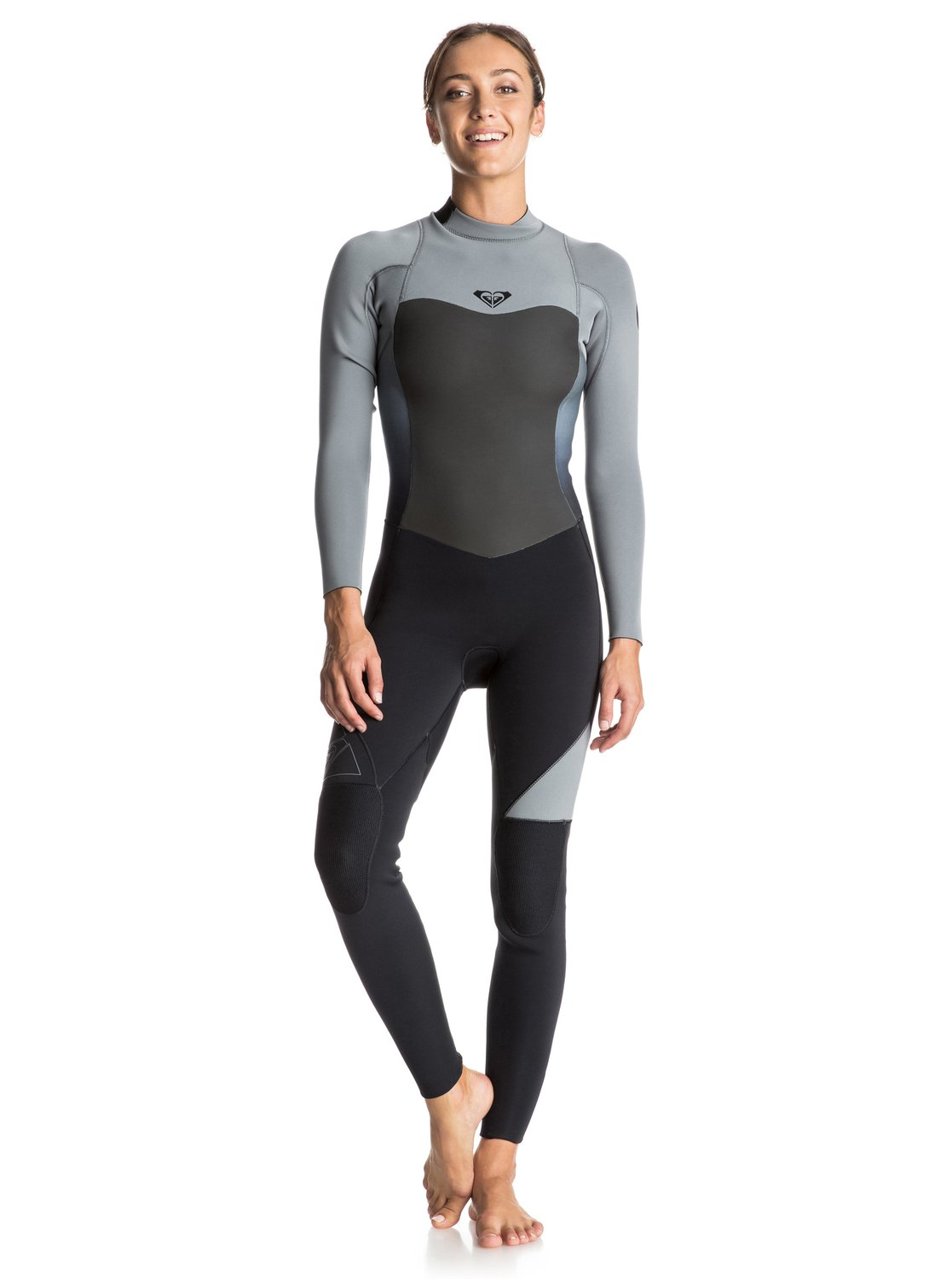 Длинный женский гидрокостюм (фулсьют) Syncro 4/3mm на спинной молнииMaking waves with a selection of cold water wetsuits made for the brave, ROXY has created this Syncro 4/3mm steamer. Designed for winter warriors with an addiction to the shoreline, this women's wetsuit has been engineered from our F'N Lite neoprene which offers instant protection and added warmth thanks to its integrated air cell technology.<br>
