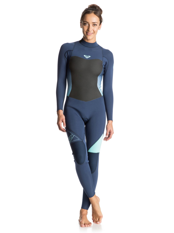 Syncro 3/2mm - Combinaison de surf intégrale zip dans le dos pour femme - Roxy