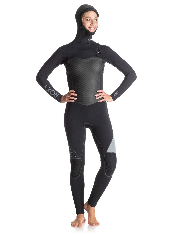 Performance 5/4/3mm - Combinaison de surf intégrale à capuche zip poitrine pour femme - Roxy