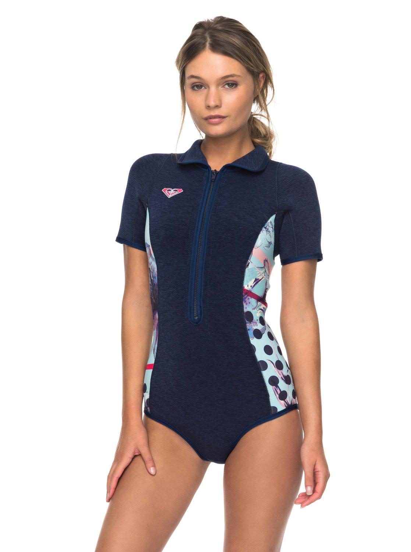 2mm Pop Surf - Springsuit manches courtes front zip pour Femme - Roxy