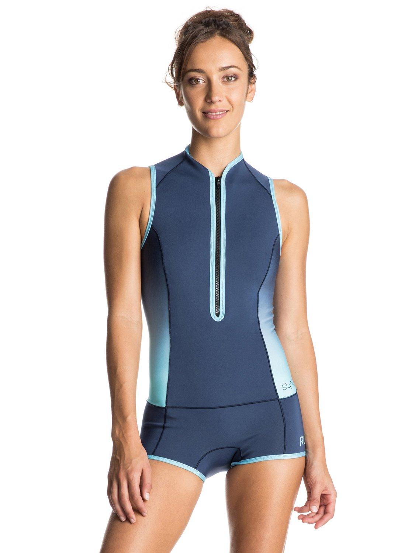 Syncro 1mm - Springsuit courte zippée devant pour Femme - Roxy