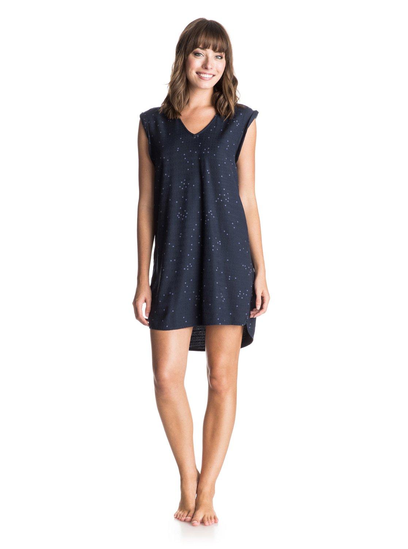 Womens Foot Loose Tank DressЖенское платье-майка Foot Loose от ROXY.ХАРАКТЕРИСТИКИ: тканое полотно, подвернутые рукава, декоративная отделка спереди, V-образный вырез спереди.СОСТАВ: 100% вискоза.<br>