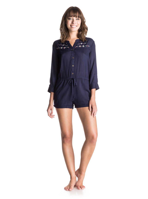 RoxyЖенское платье Tightrope от ROXY.ХАРАКТЕРИСТИКИ: тканое полотно, отделка вышивкой спереди и сзади, завязки на талии спереди, пуговицы вдоль бокового шва.СОСТАВ: 100% вискоза.<br>