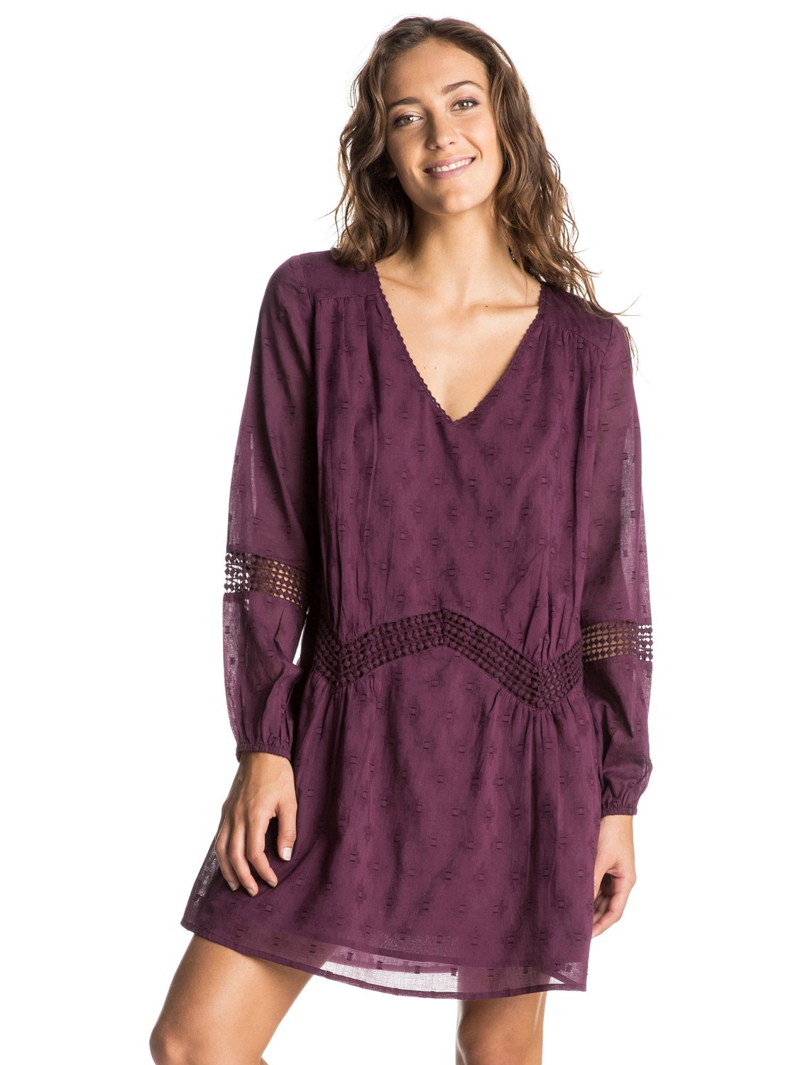 Roxy-Cali-Stars-Long-Sleeve-Dress-Robe-a-manches-longues-Femme