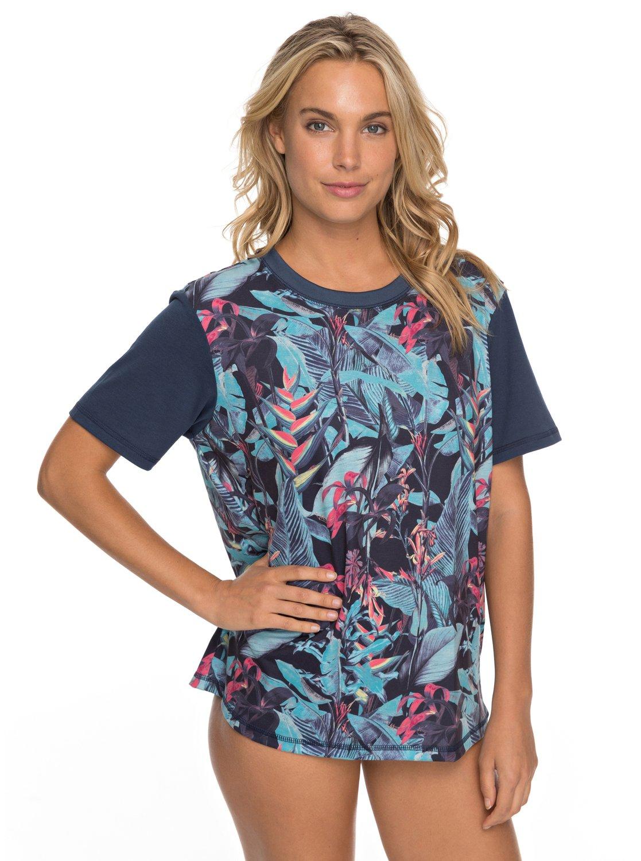 Surf - Camiseta de Surf de Manga Corta con Protección Solar UPF 50 para Mujer Roxy
