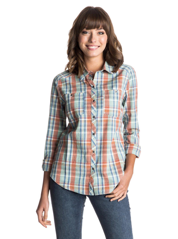 Рубашка с длинным рукавом Sneaky PeaksЖенская рубашка с длинным рукавом Sneaky Peaks от Roxy.ХАРАКТЕРИСТИКИ: на пуговицах, в клетку и в полоску, длина -70 см (размер S).СОСТАВ: 100% хлопок.<br>
