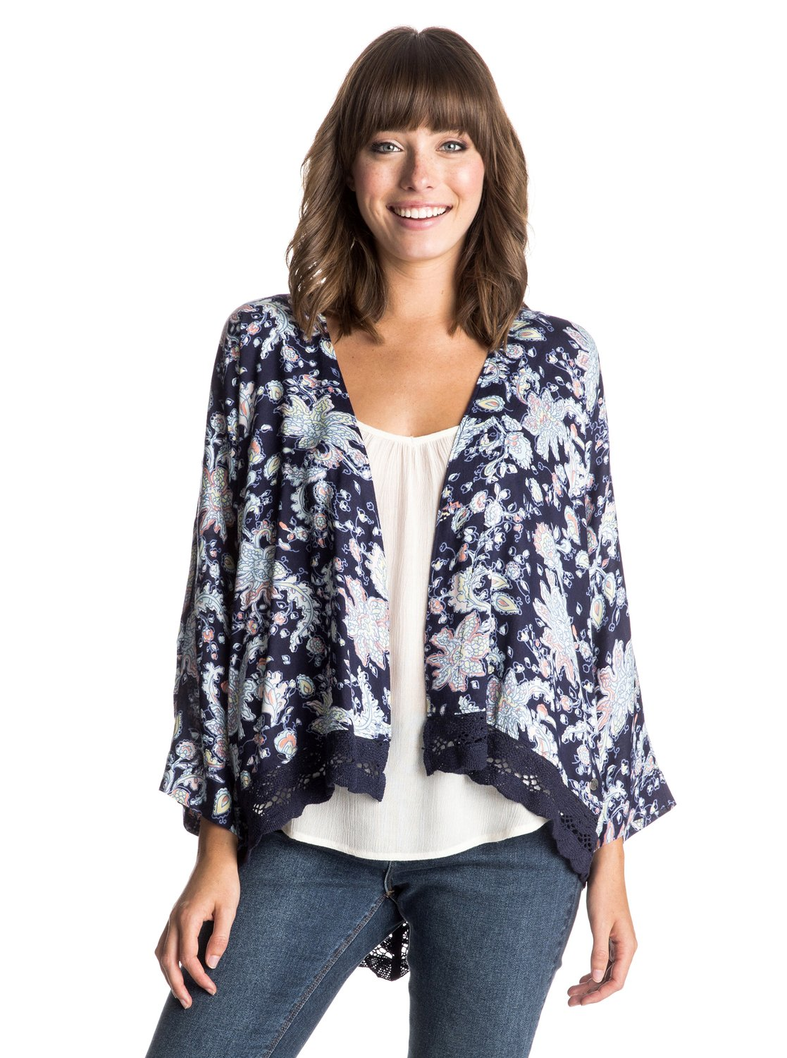 ���-������ Life Pursuit Printed Roxy Life Pursuit Printed Kimono Top