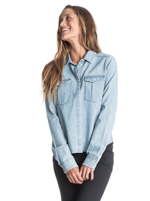 Джинсовая женская рубашка Save Me с длинным рукавом Roxy