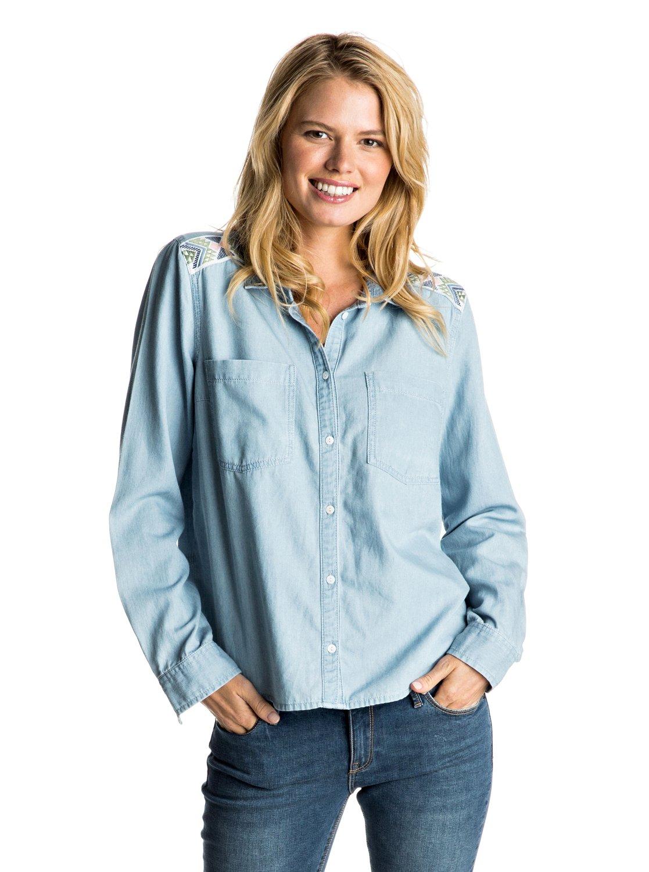 Джинсовая рубашка Light Cloudy с длинным рукавом&amp;nbsp;<br>
