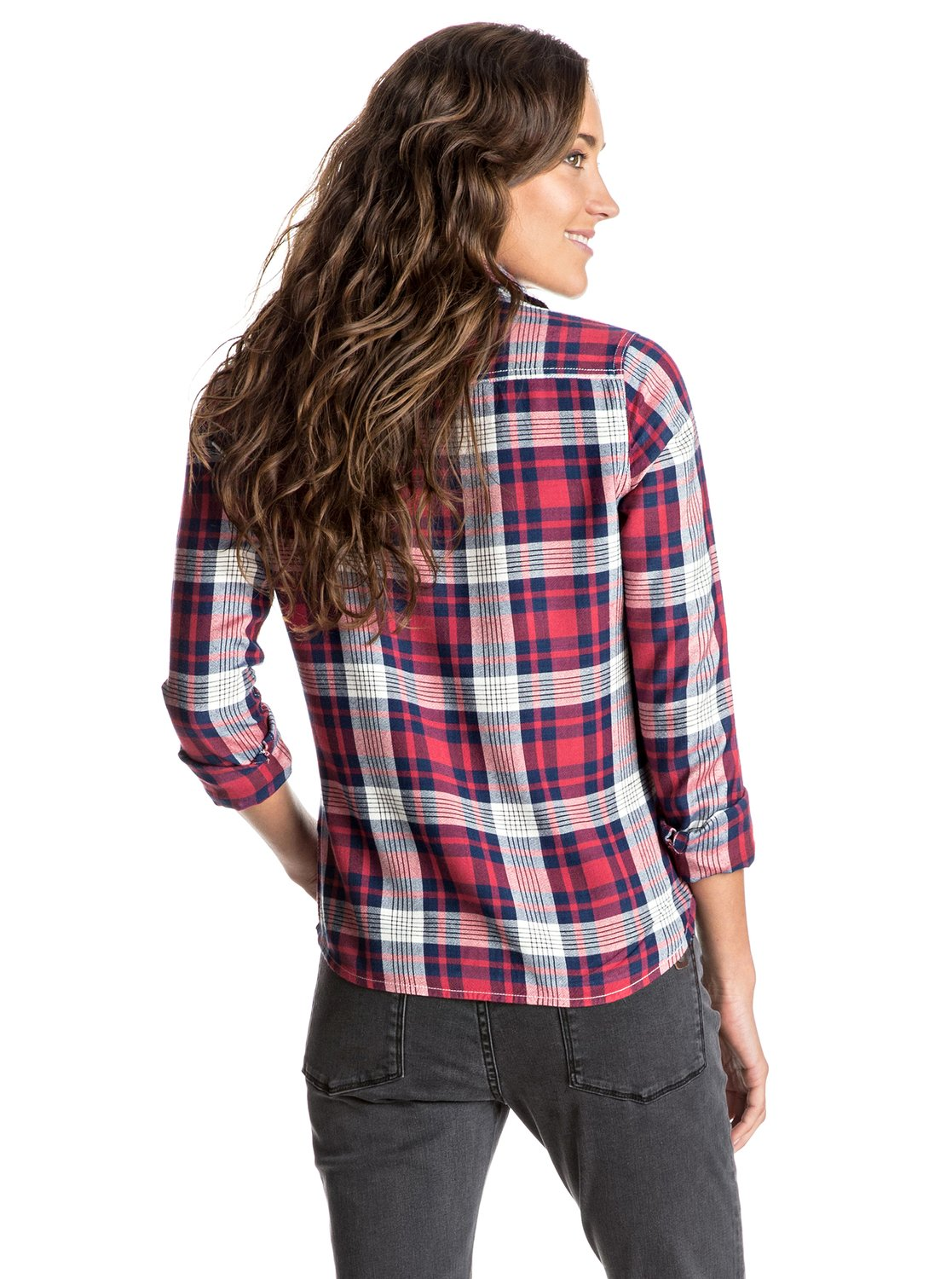 Plaid On You Long Sleeve Shirt 3613372521980 Roxy