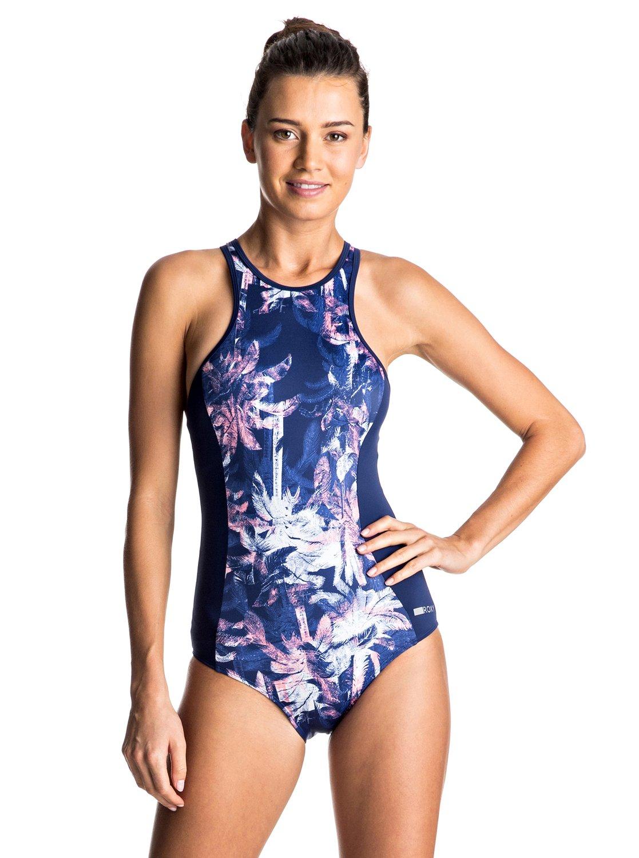 keep it roxy back zip one piece swimsuit erjx103060 roxy