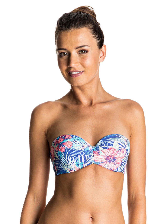 Mix Blossom - Parte de Arriba de Bikini Palabra de Honor Moldeado para Mujer Roxy