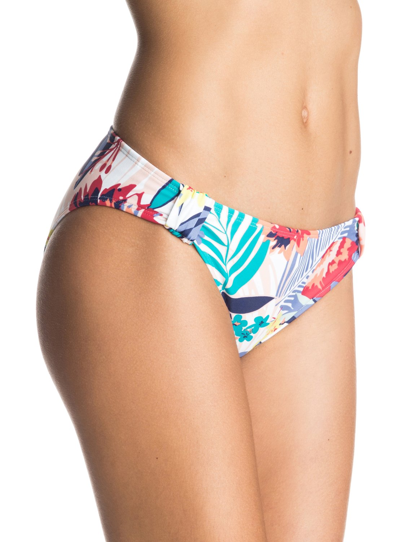 Womens Canary Islands Bikini BottomsЖенские плавки бикини Canary Islands от ROXY.ХАРАКТЕРИСТИКИ: фасон 70s Pant, большая площадь ткани, расцветка Canary Islands, удобный и прочный, мягкий и эластичный нейлон.СОСТАВ: 80% нейлон, 20% эластан.<br>