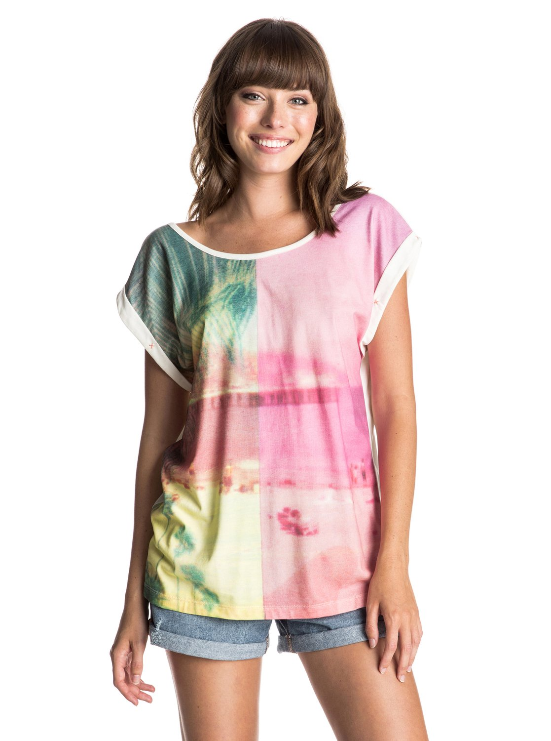 Женская футболка Photogenic Two Worlds Roxy Women's Photogenic Two Worlds T-Shirt