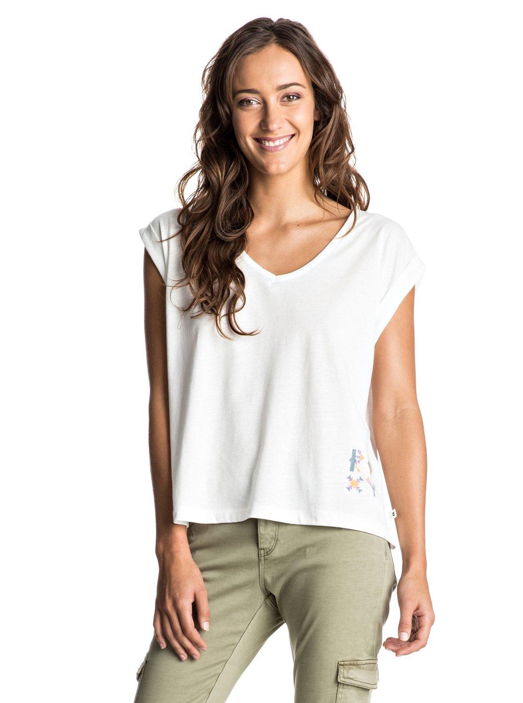 guerrero navaro stripe t shirt mit gekrempelten rmeln erjzt03831 roxy. Black Bedroom Furniture Sets. Home Design Ideas